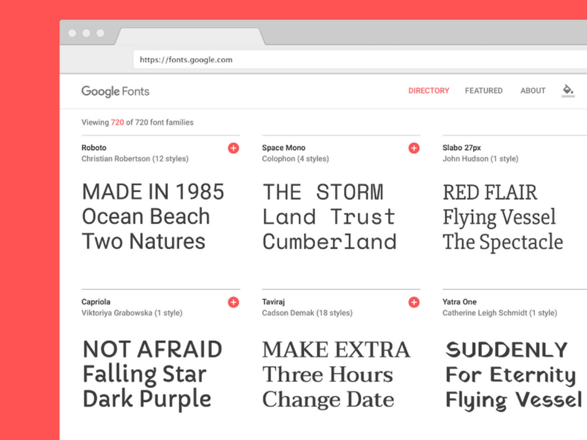 graphic design tools google fonts